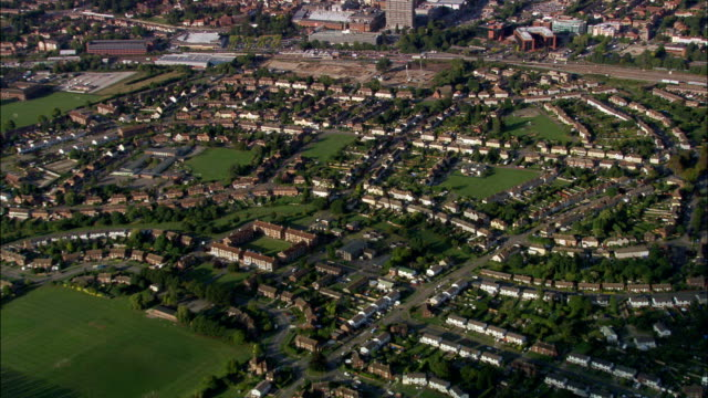 Aylesbury-Luftaufnahme-England, Buckinghamshire, Aylesbury Tal, Vereinigtes Königreich
