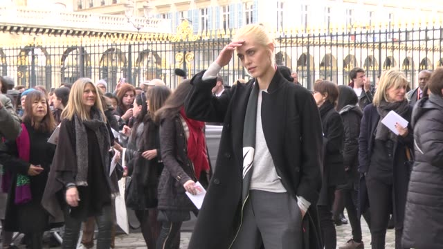 Aymeline Valade attends the Christian Dior show as part of the Paris Fashion Week Womenswear Fall/Winter 2016/2017 on March 4 2016 in Paris France