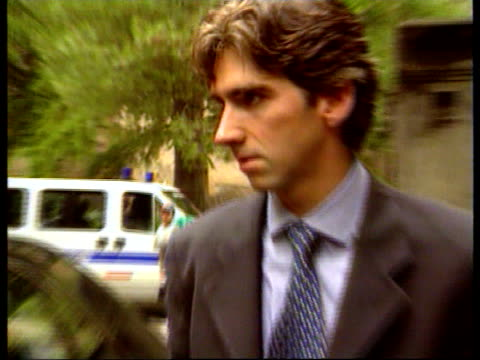 Ayrton Senna death inquest Damon Hill gives evidence ITN ITALY Bologna Damon Hill out of car as arrives at inquest into death on Ayrton Senna Hill in...