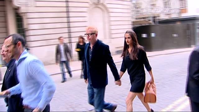 ayrton senna documentary; england: london: ext arrivals for film premiere of 'senna' including hugh grant , chris evans and wife natasha shishmanian... - documentary film stock videos & royalty-free footage