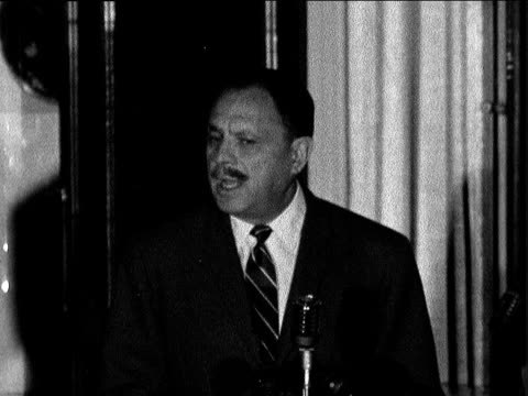 ayub khan speech in london; england: london: dorchester hotel: int ayub khan by mike sof: - because i think this is a crucial moment in human... - 30 seconds or greater stock-videos und b-roll-filmmaterial