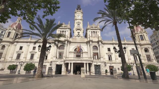 ayuntamiento de valencia, spain - local landmark stock videos & royalty-free footage