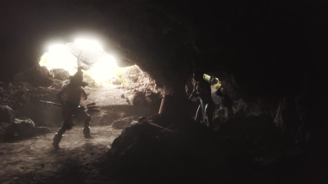 azecs dancing and playing drums inside a cave - aztec civilization stock videos and b-roll footage