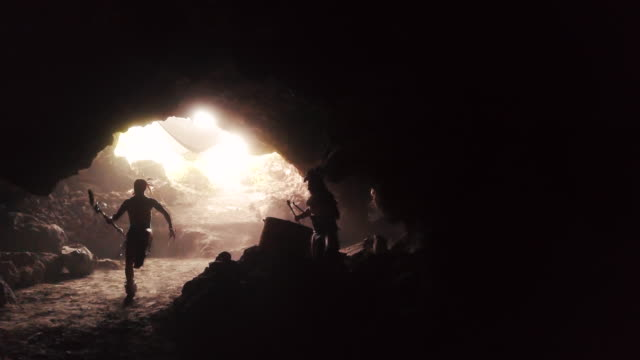 azecs dancing and playing drums inside a cave - aztekisch stock-videos und b-roll-filmmaterial