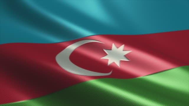 azerbaijan flag high detail - looping stock video - azerbaigian video stock e b–roll