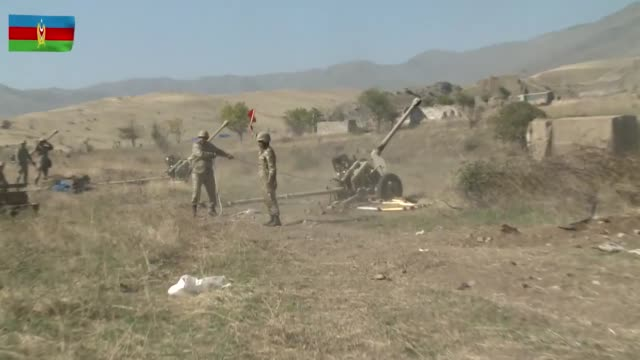 azerbaijan's military continues its operation to save the occupied lands, according to the country's defense ministry on tuesday, oct. 20. in a fresh... - war stock videos & royalty-free footage