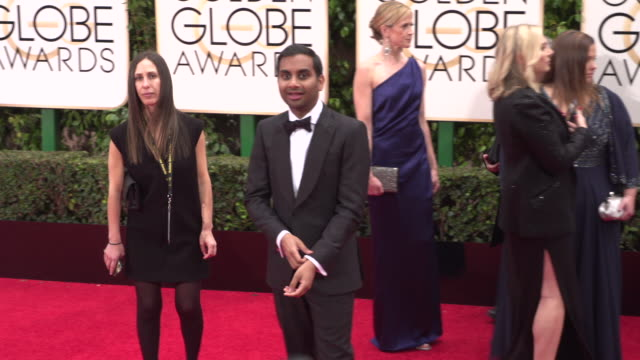 Aziz Ansari at 73rd Annual Golden Globe Awards Arrivals at The Beverly Hilton Hotel on January 10 2016 in Beverly Hills California 4K