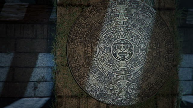 aztec calendar discovery - aztec stock videos & royalty-free footage