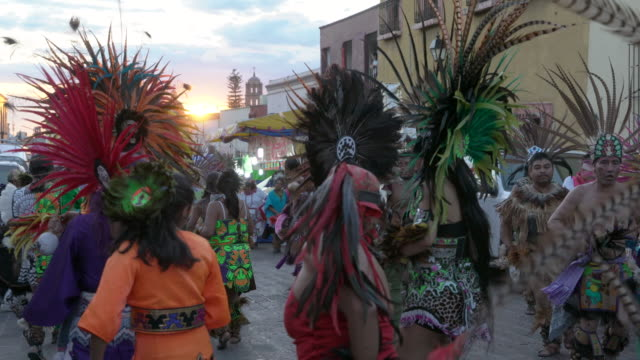 Aztec Conchero dancers performing