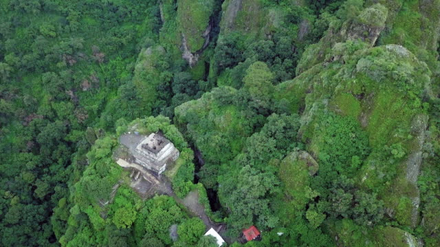 aztec pyramid over the tepozteco - valley stock videos & royalty-free footage