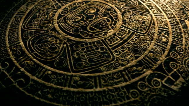 mayan calendar stone - stone object stock videos and b-roll footage