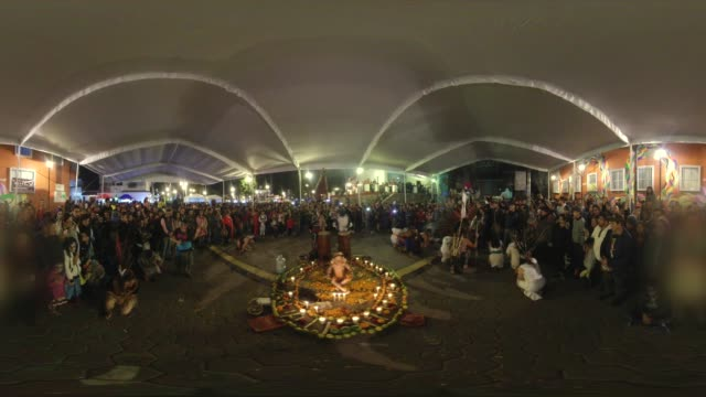 aztecs dance in the day of the dead in mixquic mexico - earth goddess stock videos & royalty-free footage