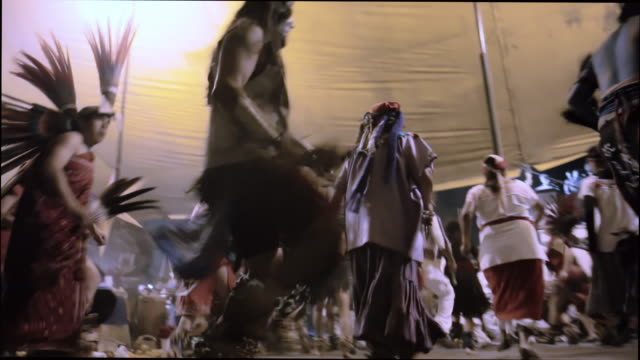 aztecs dancing in mixquic - indigenous north american culture stock videos and b-roll footage