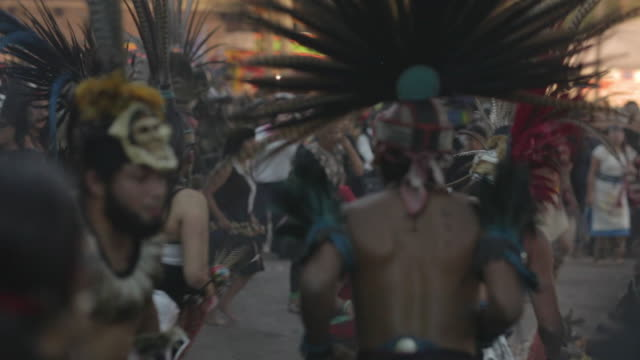 aztecs dancing on the day of the dead - aztec civilization stock videos and b-roll footage