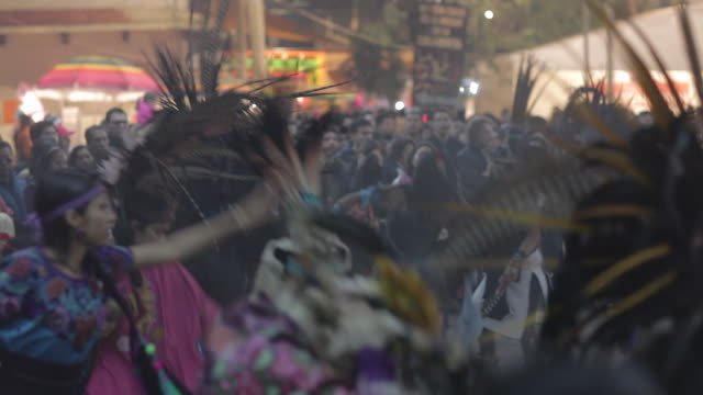 Aztecs Dancing on the day of the dead