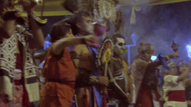 aztecs dancing on the day of the dead - altar stock videos & royalty-free footage