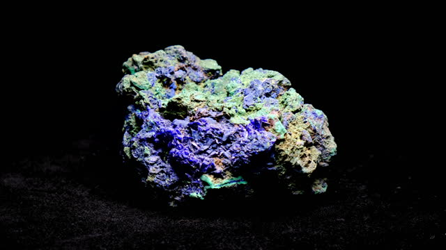 azurite and malachite chunk - gemology stock videos & royalty-free footage