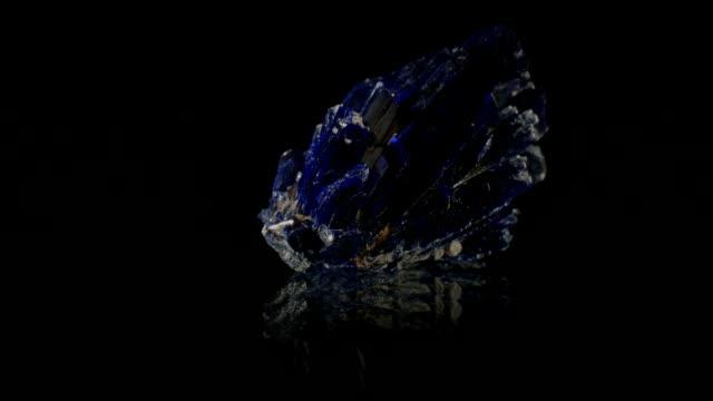 azurite rotating on black - quartz stock videos and b-roll footage