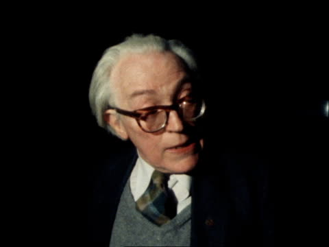 b MS Michael Foot out of TUC meeting MS Foot and Peter Shore along MS Shore along MS Both LR SOF 'I'm not reallywin the election' CU JSILKINSOF...