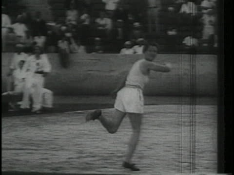 babe didrikson throws a javelin during the 1932 olympic games. - javelin stock videos & royalty-free footage