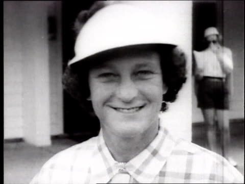 babe didrikson zaharias at the us women's open golf championship. babe didrikson at golf tournament on july 03, 1954 in peabody, massachusettes - 1954 stock videos & royalty-free footage