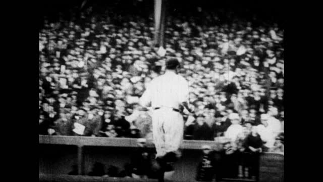 babe ruth hits a home run in a full stadium - 1920 stock videos & royalty-free footage