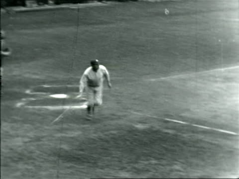 babe ruth hitting fast ball running / documentary - one mid adult man only stock videos & royalty-free footage