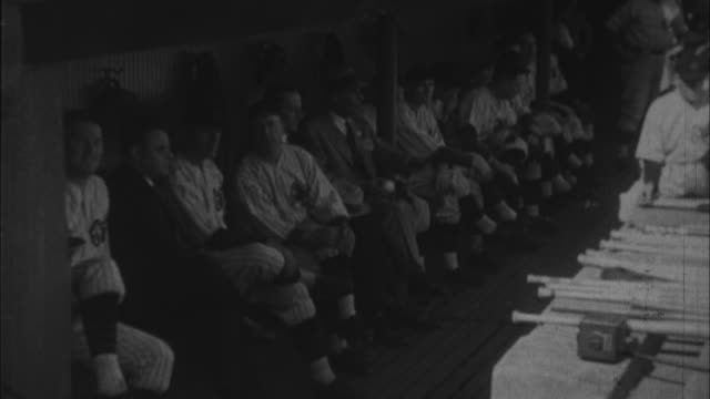 babe ruth narrates famous homerun he got in game three of 1932 world series / united states - 1932 stock videos & royalty-free footage