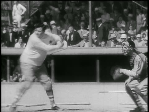 babe ruth practicing batting + running around bases - 1935 stock videos & royalty-free footage