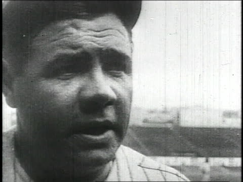 babe ruth / united states - home run stock-videos und b-roll-filmmaterial