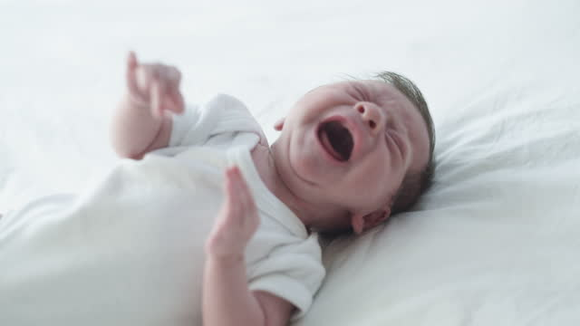 a babies cry is heaven's anguish but their smile is heaven's joy - babies only stock videos & royalty-free footage
