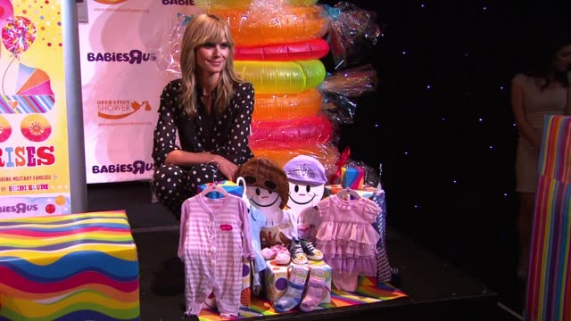 clean babies r us throws a trulyscrumptious operation shower event hosted by heidi klum in universal city ca - heidi klum stock videos and b-roll footage