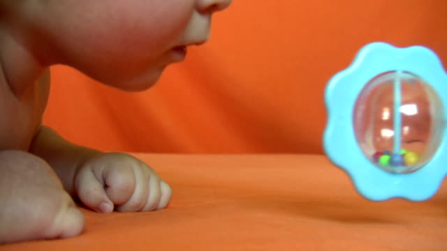 baby and toy - unknown gender stock videos & royalty-free footage
