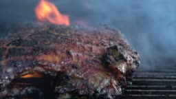 BBQ Baby Back Ribs on the Barbeque