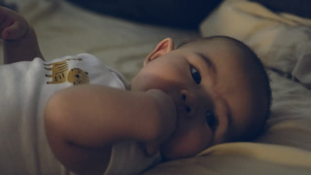 baby bedtime - baby girls stock videos & royalty-free footage