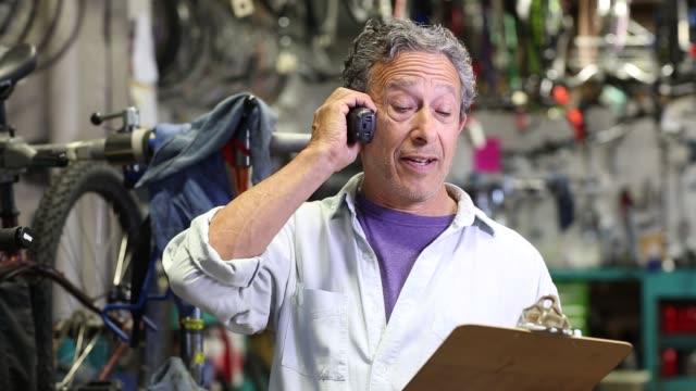 baby boomer owner of bike shop