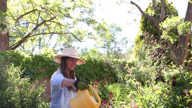 baby boomer woman in garden