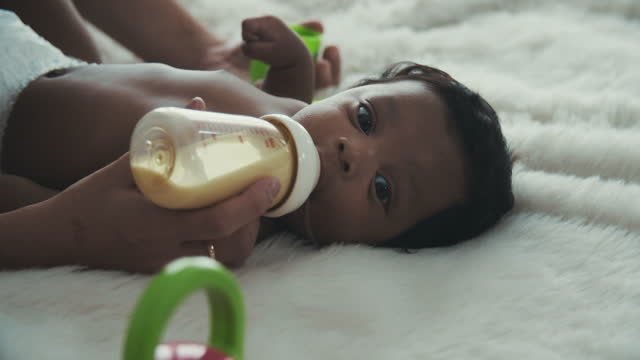 baby bottle feeding - 0 11 months stock videos & royalty-free footage