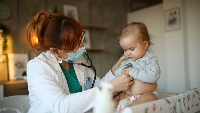 baby boy at pediatrician - pediatrician stock videos & royalty-free footage