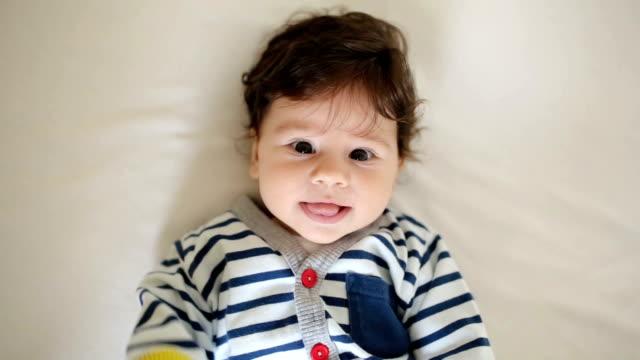 Baby boy in the crib