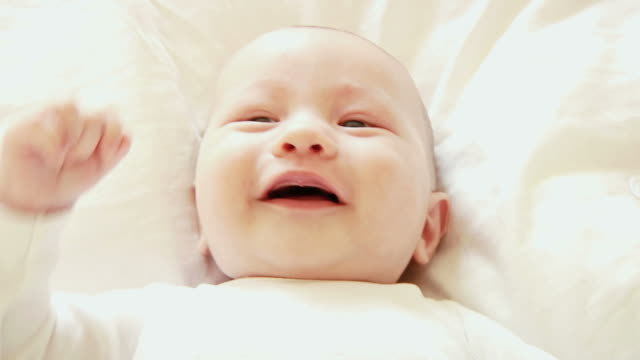 Baby Boy Laughing on White (HD)
