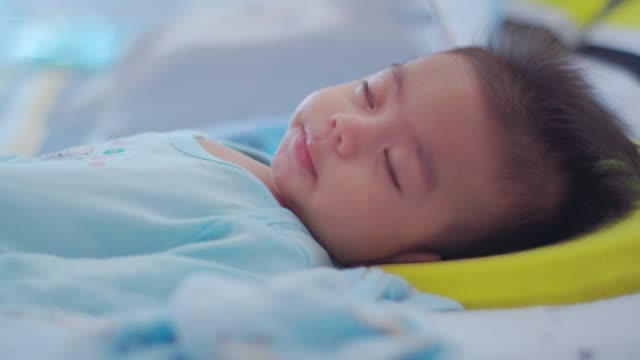baby boy sleeping - one baby boy only stock videos & royalty-free footage