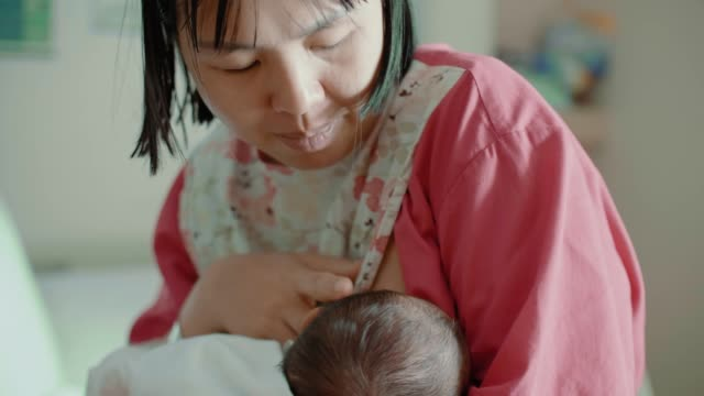 baby breastfeeding - east asian ethnicity stock videos & royalty-free footage