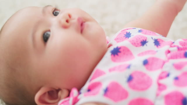 baby closeup - one baby girl only stock videos & royalty-free footage