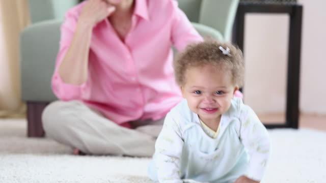 CU Baby Crawling on Floor Toward Camera / Richmond, Virginia, USA