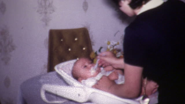 baby feeding vintage 1960's - 1960 stock videos and b-roll footage