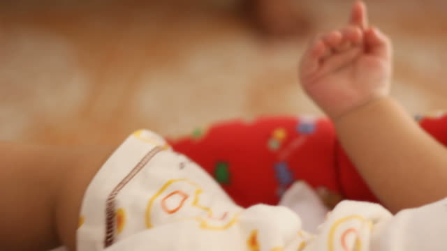 baby feet - one baby boy only stock videos & royalty-free footage