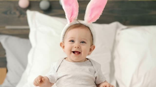 baby footage - osterhase stock-videos und b-roll-filmmaterial