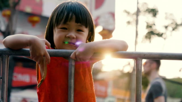 Baby girl celebrating Chinese new year