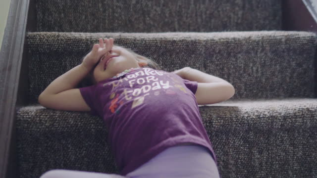 baby girl climbing steps - carpet decor stock videos & royalty-free footage